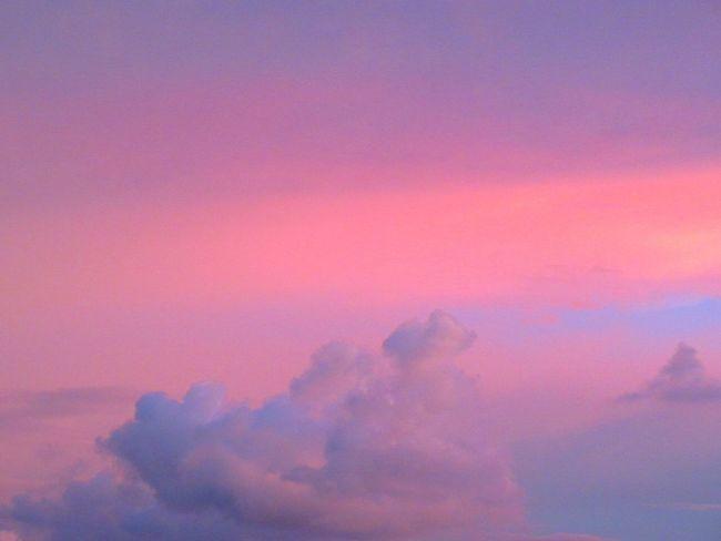 Sky Cloud - Sky Pink Blue Sky Clouds Nature No People Labuan,Malaysia Borneo