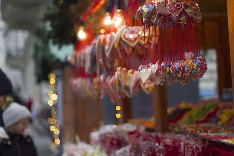 Belgrade Christmas Christmas Decoration Sweets Decoration Heart Shape Heart Winter Serbia Kid Christmas Market Streetphotography