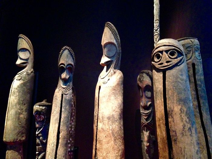 Exhibition Art African Anthropology Paris Museum Faces Drums