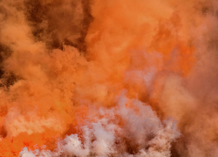 Abstract Backgrounds Burning Close-up Day Exploding Flame Full Frame Heat - Temperature Natural Disaster No People Orange Color Red Smoke - Physical Structure Yellow