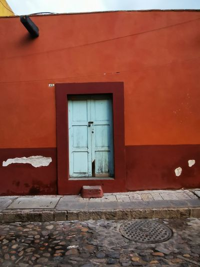 Red Window Door