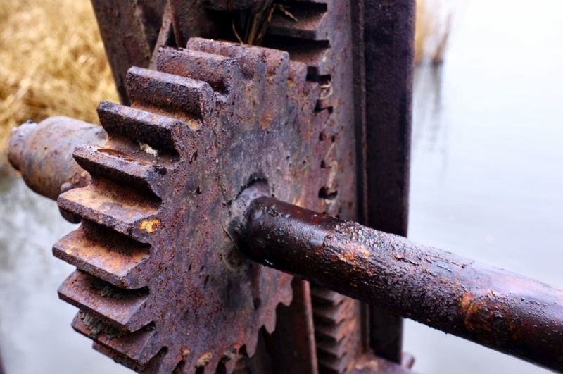 Berlin Photography Industry Mechanic Wehr Zahnrad Close-up Cog Day Gear Metal No People Outdoors Rusty