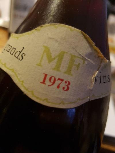 Lieblingsteil Close-up Grand Vin 1973 Marie En Fits Grands Vins