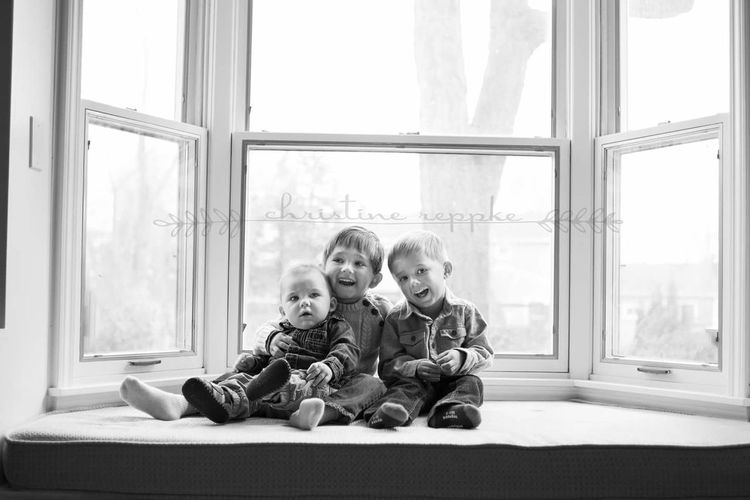 Window Child Togetherness Indoors  Childhood Bonding Portrait Lifestyle Photography Brothers Black And White