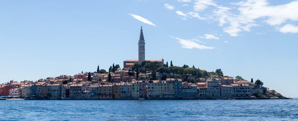 Rovinj... Coastline Croatia Holiday Holidays Panorama Panoramic Rovinj Rovinj City Rovinj Croatia Architecture Building Exterior Built Structure City Coastal Coastal Town Croatian Town Day Pano Sea Sky Travel Vacation Visit Croatia Water Waterfront