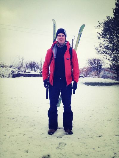 Going for a ski, I'll be back for lunch