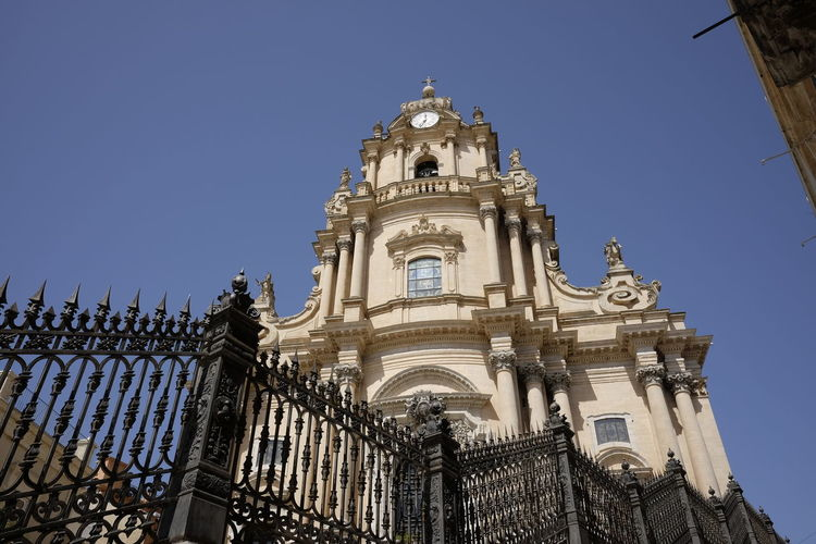 Architecture Building Exterior Built Structure Cathedral Church Clear Sky Day Duomo Ibla Low Angle View No People Ornate Outdoors Religion Sky