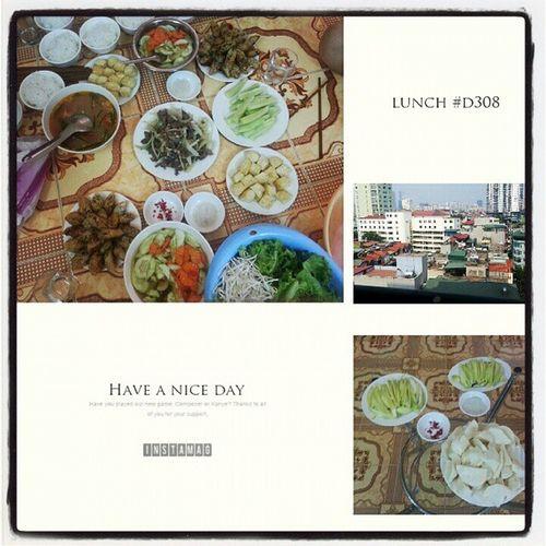Tụ tập nấu cơm. Phòng nhiều bạn nấu ngon lắm, lần sau tiếp tục nhé cả nhà (*^﹏^*) Lunch D308 InstaMagAndroid