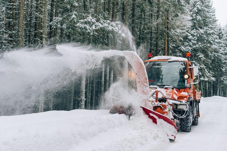 Snowblower During Winter