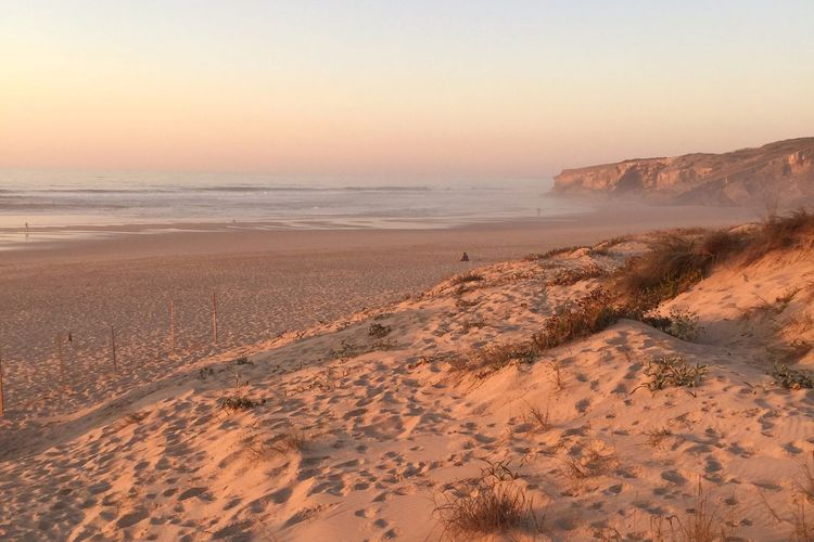 Sand Sunset Nature Beach Scenics Tranquility Outdoors Tranquil Scene Sky Sea Beauty In Nature No People Sand Dune Arid Climate Day Before Sunset Dunes Monte Clerigo Costa Vicentina Atlantic Ocean