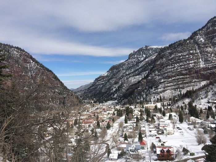 Snowfall on the town of Ouray, Colorado in March of 2016 Colorado Mountain Mountains Ouray OurayColorado Snow Snowy Mountains Town Village Western Slope Winter