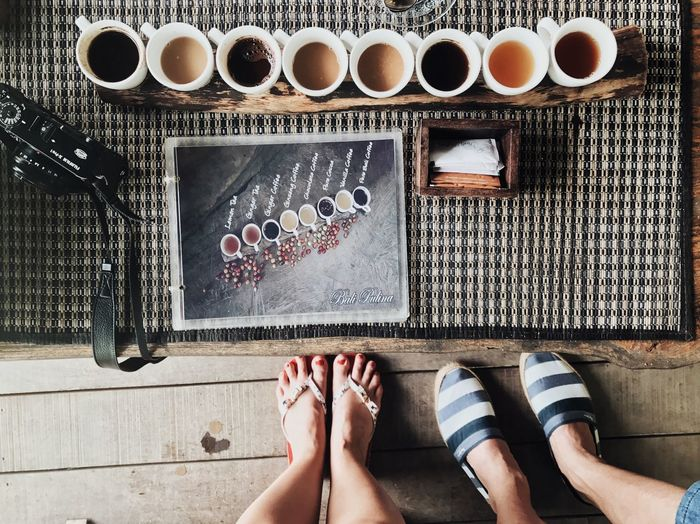 Coffee Lovers • Low Section Human Leg Human Foot Personal Perspective Real People Barefoot Human Body Part Indoors  Women Standing One Person Day Men Adult Adults Only People Coffee Time Coffee Cup Coffee Coffee Lover Lifestyle Life In Bali Coffee - Drink Coffee Tea Second Acts