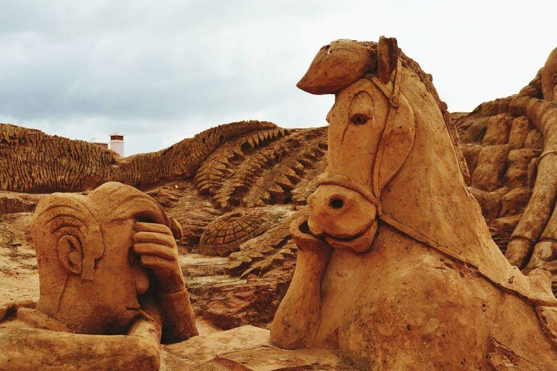 Lucky Luke Art No People Sand Sculpture Park Sand Sculpture Imagination Sand Sculptures Sculpture Sand