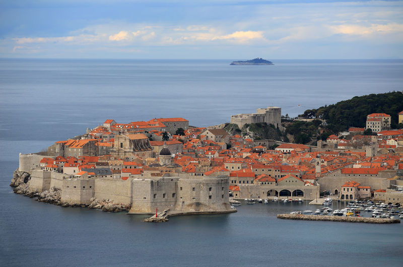 Croatia Dubrovnik Rooftop House Old Town Drone View Urban Europe Built Structure Building Exterior Architecture Heritage Adriatic Sea Town Crowded Travel Travel Destinations Travel Photography Seascape Ocean Beautiful Place Medieval Mediterranean  Horizon Over Water Sky