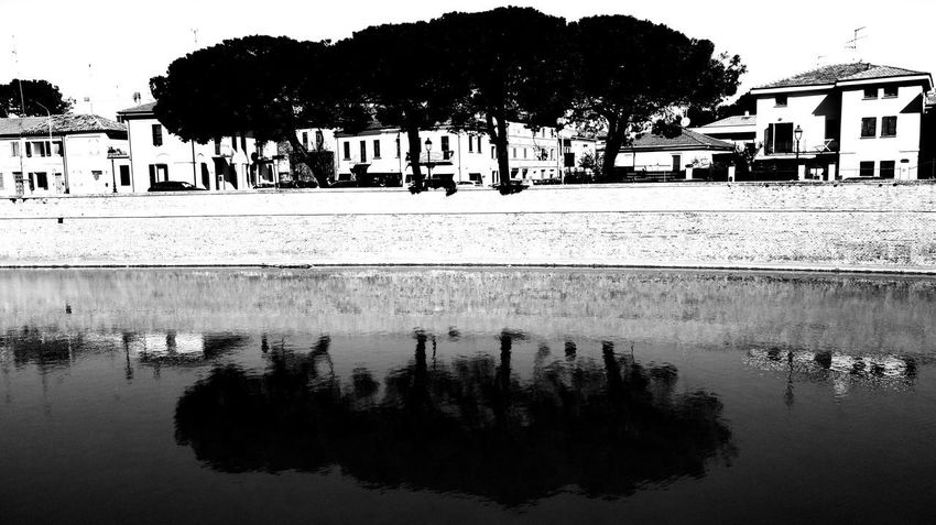 EyeEmNewHere Senigallia No People Outdoors Reflections Water Reflections Waterscape Black & White Black Color Travel Destinations Fiume Misa Riverside River View Riverside Photography River Cruise