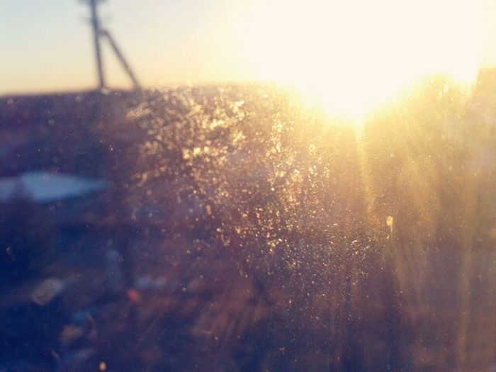 A nice view through window. Sunshine