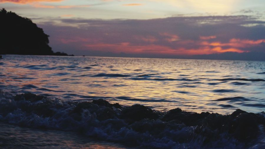 sunset. Blue