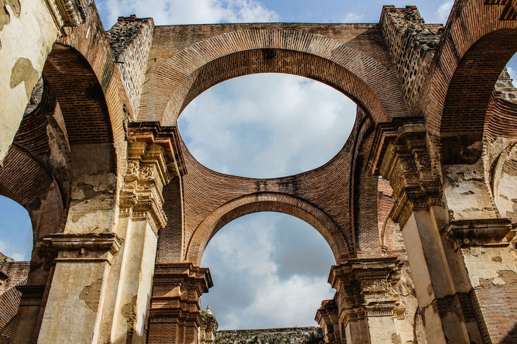 Ancient Ancient Civilization Ancient History Arch Architectural Column Architecture Building Exterior Built Structure Cloud - Sky Day History Low Angle View No People Old Ruin Ruined Sky The Past Tourism Travel Destinations