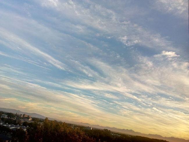 Cloudy Sky 💙 Scenics Tranquil Scene Landscape Outdoors Sunset