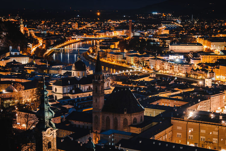 Austria ❤ Austrianphotographers City Lights Cityscapes Learn & Shoot: After Dark Nightscapephotography Nightscapes Salzburg, Austria