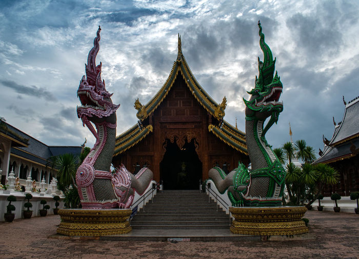 temple Architecture Belief Built Structure Art And Craft Religion Sculpture Spirituality Sky Cloud - Sky Place Of Worship Building Exterior Statue Representation Building Nature Day Creativity No People Outdoors Ornate