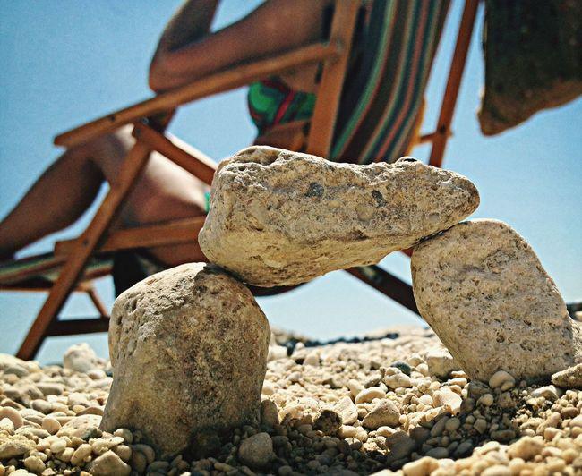 Enjoying The Sun Rock Beach Summer