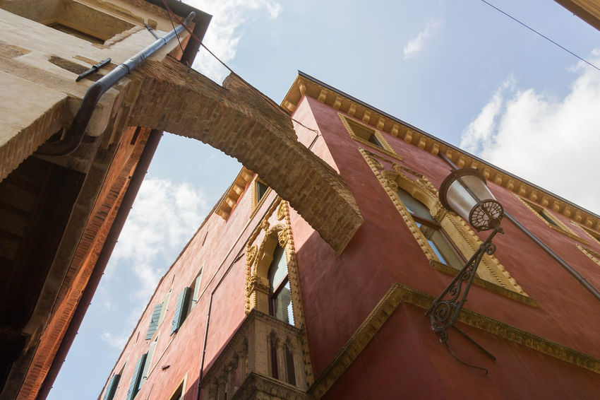 Angle Arch Architecture Architecture Brick Brick Arch Building Exterior Built Structure Cloud - Sky Clouds And Sky Contrast High Italia Italy Lamp Low Angle View No People Old Old Buildings Outdoors Padova Sky Street Streetphotography