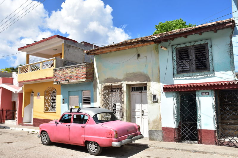 Cloudy Sky Cuba Collection Trinidad Urban Lifestyle Collection Car Morning Walk Oldies Streetphotography