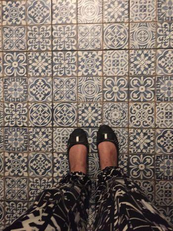 Feet And Shoes Feet On The Ground Feetselfie Floor Tiles Blue TilesoAsymmetryrIphonographyhIndoors sDecoroInterioroShowcase Aprilil