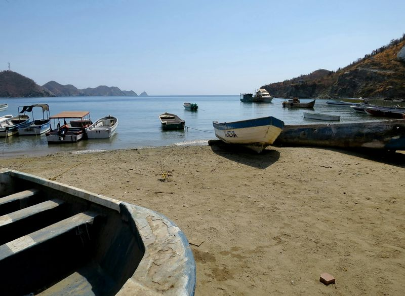 Taganga Colombia Nautical Vessel Water Beach Transportation Sea Outdoors Tranquility Sunny Travel Destinations Beauty In Nature Landscape Sand