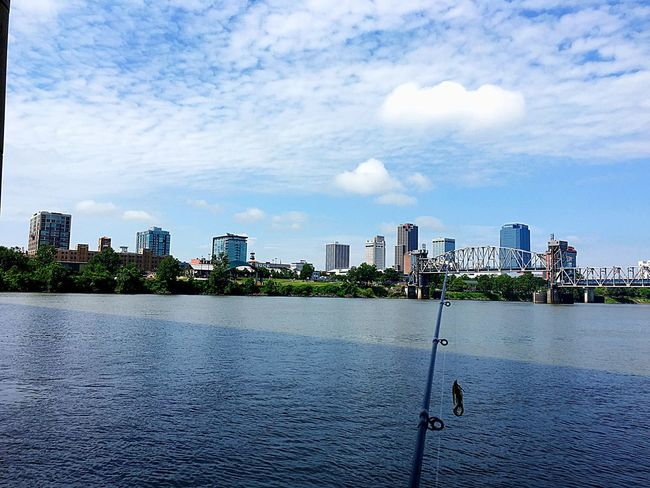 Downtown Fishing Beauty In Nature Scenics Waterfront No People Nature Cloud - Sky Water Outdoors Catch And Release Hobby Bassfishing Beautiful Nature