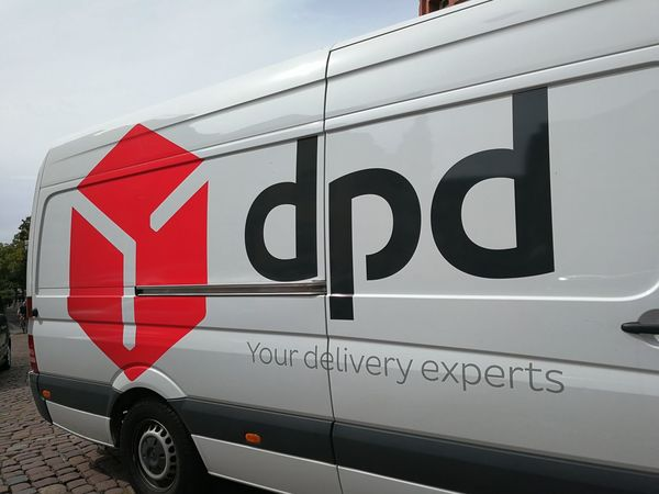 DPD logo. Dynamic Parcel Distribution is a parcel delivery company owned by GeoPost. It is one of Europe's leading business-to-business parcel delivery services Delivery Delivery Service Delivery Van Transport Transportation Car Close-up Deliver Delivering Delivery Truck Land Vehicle Mode Of Transportation Motor Vehicle No People Outdoors Pdp Sign Text Transportation Truck Van Vehicle Western Script