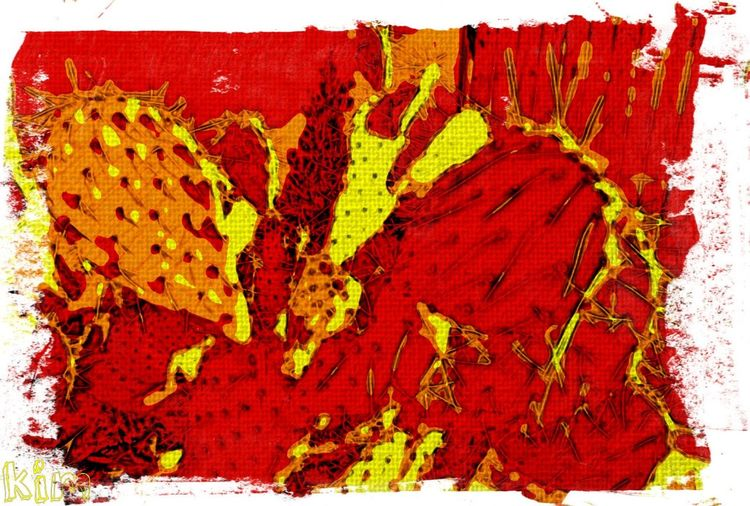 Abstract Backgrounds Close-up Ink No People Paint Painted Image Red Textured