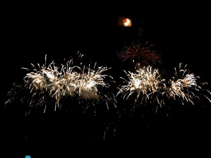 Fireworks Night Illuminated Firework Glowing Firework Display Sky Light Motion