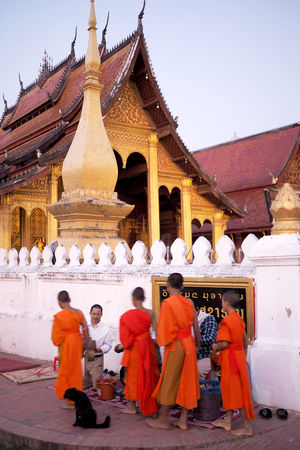 The alms giving ceremony in Luang Prabang, Laos ALMS Buddhist Alms Giving Architecture Buddhism Buddhist Monks Buddhist Temple Ceremony Day Laos Luang Prabang Luangprabang #laos #2016 #peaceful #morning #solitude #temple #laotemple #traveling #traveler #travelbug #travelphoto #travelawesome #travelgram #traveldiaries #travellife #travelerslife #traveladdict #lovefortravel #wanderlust #wanderluster #wanderlustin Monk Robe Monks Outdoors People Place Of Worship Real People Religion Southeast Asia Spirituality Temple