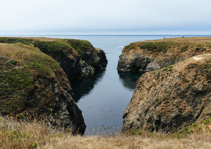 Cliff Side Ocean Views in Mendocino CA Beauty In Nature Cliff Cliffs And Sea Cliffside Environment Horizon Landscape Nature Outdoors Rock Scenics - Nature Sea Sky Tranquil Scene Tranquility Water