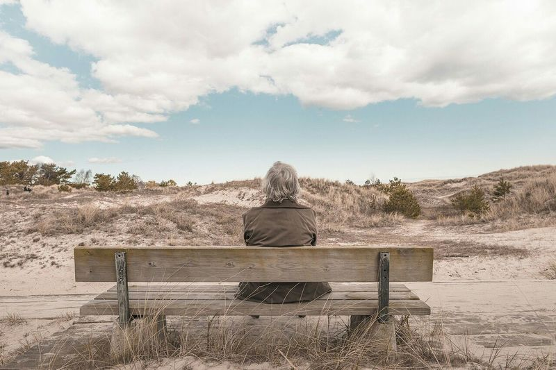 The Man On A Bench Sky And Clouds Sunny Day Popular Photos Eye4photography  EyeEm Best Shots Let's Do It Chic!