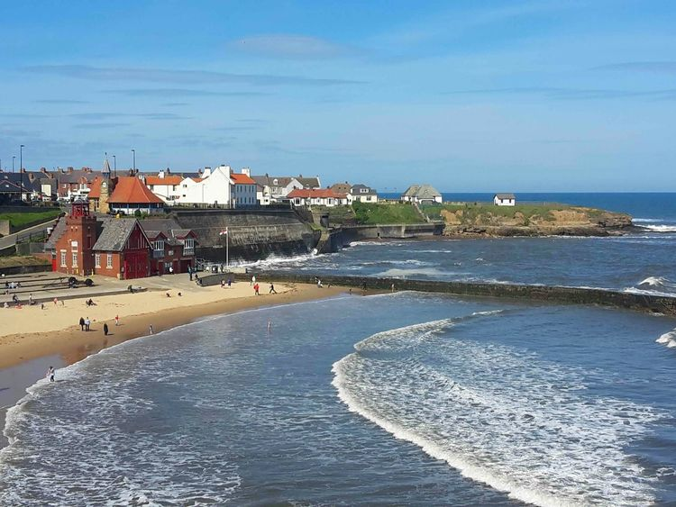 Beach Sea Water Vacations Summer Sand Outdoors Leisure Activity Sky Day Horizon Over Water Relaxation People Nature Swimming Cullercoats Bay Beachphotography EmEyeNewPhoto EyeEm Best Shots - Nature Coastal_collection Tranquil Scene Eyemphotography Beach Life