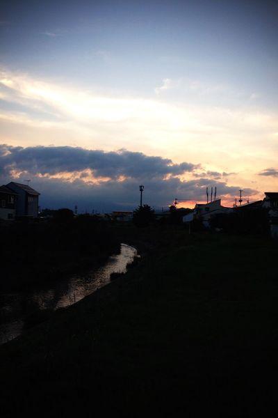 夕空 河原