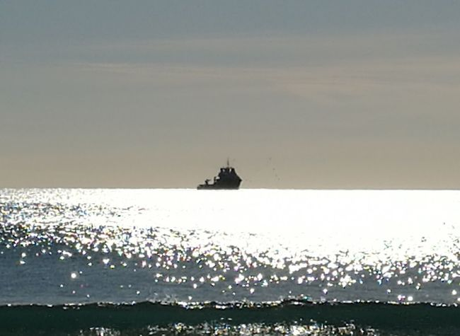 Sea Nautical Vessel Silhouette Horizon Over Water Sunset Tranquility Beach No People Outdoors Wave Water Beauty In Nature Sky