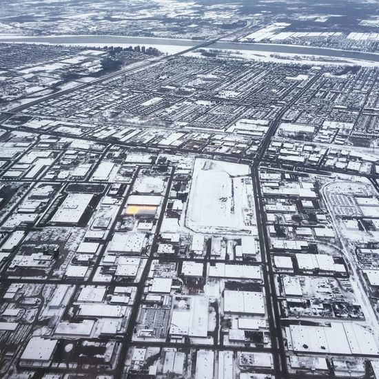Aerial View Architecture Building Exterior Built Structure City Cityscape Cold Temperature Day Downtown District Nature No People Outdoors Residential Building Snow