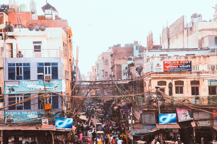 India Indian Culture  Indian Streets Spice Bazaar Crowded Crowded People Crowded Street Old Delhi