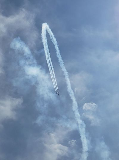 Thunderbirds, Air Show, Aviation Vapor Trail Aerobatics Airshow Teamwork Airplane Flying Fighter Plane Acrobatic Activity Arts Culture And Entertainment Formation Flying Military Airplane Stunt Air Force US Air Force Military Moving Annual Event Arrangement