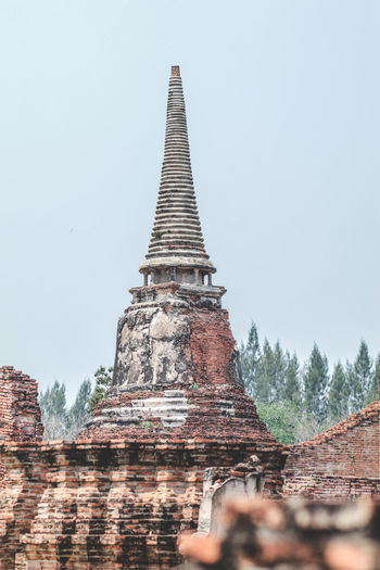 ON 26 May 2019,The old famous temple in Thailand world heritage / Wat Phrasrisanphet Architecture No People Day History The Past Travel Destinations Ancient Civilization Built Structure Sky Clear Sky Building Exterior Place Of Worship Building Religion Belief Nature Spirituality Low Angle View Tourism Spire  ASIA Thai Thailand Old Ayutthaya Architecture Ancient Temple Travel Buddhist Culture Landmark Pagoda Buddhism Historical Brick Brick Wall Famous Place Famous Religious  Sculpture Worship Unesco Palace Ruins Province Ruined Wisdom Backgrounds World
