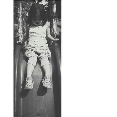 Miskah Daughter Toddler  Play slide fun