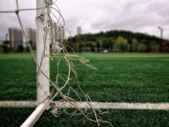 Soccer Sport Soccer Field Grass Goal Goal Post Net - Sports Equipment Playing Field Soccer Goal Track And Field Stadium Outdoors Tree Day No People Sky