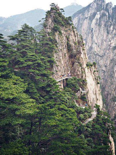 Huangshan Yellow Mountain Huangshan China Steep Adventure Outdoors First Eyeem Photo