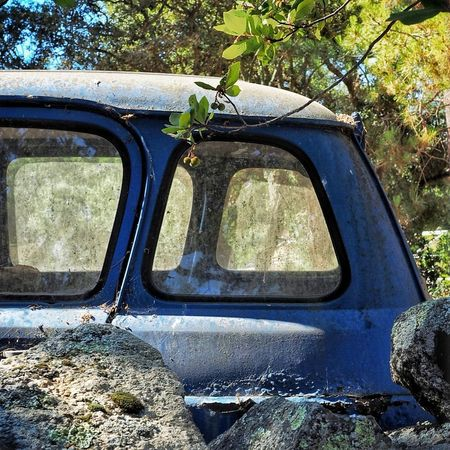 Day Transportation Mode Of Transport Outdoors No People Close-up Wall Corsica France Renault Renault 4 Classic Car Abandoned