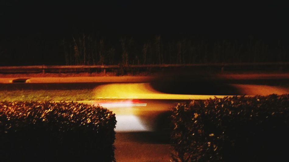Night Road Dark The Way Forward Outdoors Car Fast