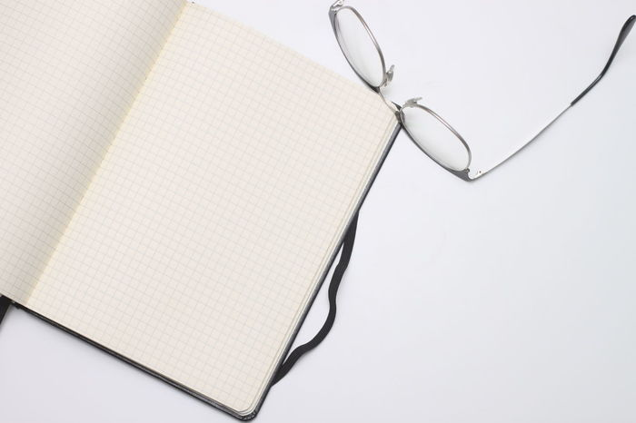 Copyspace White Blanket White Text Glasses Notebook Notes Paper Write Note Take A Note